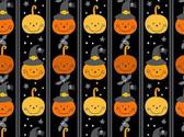 A Spooky Good Time - Pumpkin Stripe Black from Andover Fabrics