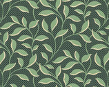 Evergreen - Vine Leaves Spruce by Laundry Basket Quilts from Andover Fabrics