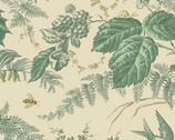 Evergreen - Toile Sage by Laundry Basket Quilts from Andover Fabrics