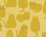 Whiskers and Dash - Cats Whiskers Golden by Sarah Golden from Andover Fabrics