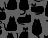 Whiskers and Dash - Cats Whiskers Coal by Sarah Golden from Andover Fabrics