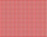 French Chateau - Gingham Cherry Red by Need'l Love from Andover Fabrics