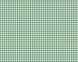 French Chateau - Gingham Aruba Green by Need'l Love from Andover Fabrics