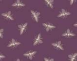 French Bee - Bees Ripe Plum by Need'l Love from Andover Fabrics