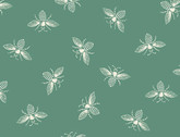 French Bee - Bees Coastal Green by Need'l Love from Andover Fabrics