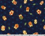 Kasuri - Owls Blue by Sevenberry from Robert Kaufman Fabric
