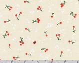 Wishwell Cheery Blossom - Cherries Ladybug Natural from Robert Kaufman Fabric