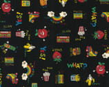 Retro Pop  - American Vintage OXFORD Dark from Kokka Fabric