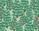 Believe - Trees Green from 3 Wishes Fabric