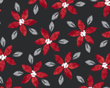 Hanging with My Gnomies - Poinsettia from 3 Wishes Fabric