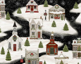 Home for the Holidays - Village by Beth Albert from 3 Wishes Fabric