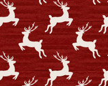 Home for the Holidays - Reindeer Red by Beth Albert from 3 Wishes Fabric
