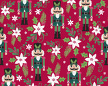 Holiday Wonder - Poinsettia Nutcracker Red from 3 Wishes Fabric