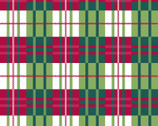 Holiday Wonder - Poinsettia Plaid Green Red from 3 Wishes Fabric