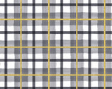 Peace on Earth GLITTER - Plaid Grey from 3 Wishes Fabric