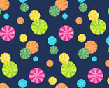 The VHC In the Garden - Parasol Party Night by Eric Carle from Andover Fabrics