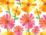 The VHC In the Garden -Flower Fancy Day by Eric Carle from Andover Fabrics