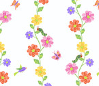 The VHC In the Garden -Flowering Vine Day by Eric Carle from Andover Fabrics
