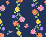 The VHC In the Garden -Flowering Vine Night by Eric Carle from Andover Fabrics
