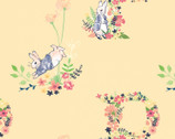 Peter Rabbit Flowers and Dreams - Floral Letter Peach by Beatrix Potter from The Craft Cotton Company