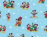 Mickey and Friends Christmas - Christmas Day Blue by Disney from Springs Creative Fabric