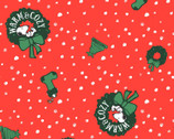 Peanuts Christmas - Snoopy Toss Wreath Red from Springs Creative Fabric