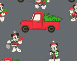 Mickey and Friends Christmas - Red Truck Christmas Grey by Disney from Springs Creative Fabric
