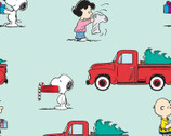 Peanuts Christmas - Red Truck Blue from Springs Creative Fabric