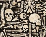 Halloween Boney Yard Black from Springs Creative Fabric