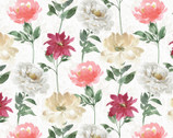 Spring Florals - Floral Pattern Cream Multi from David Textiles Fabrics