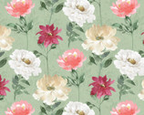 Spring Florals - Floral Pattern Sage Multi from David Textiles Fabrics