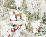 Christmas Cardinal Wonderland from Springs Creative Fabric
