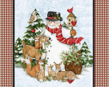 Christmas Snowman Deer Panel 36 Inches from Springs Creative Fabric