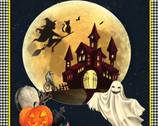 Halloween Darkside Panel 36 Inches from Springs Creative Fabric