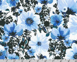 Wishwell Wild Blue - Floral Blooms Delft by Vanessa Lillrose and Linda Fitch from Robert Kaufman Fabric