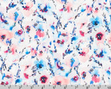 Wishwell Wild Blue - Floral Mist by Vanessa Lillrose and Linda Fitch from Robert Kaufman Fabric