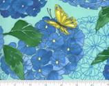 Cottage Bleu - Florals Dewdrop Aqua by Robin Pickens from Moda Fabrics