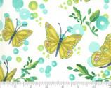 Cottage Bleu - Butterflies Cream Natural by Robin Pickens from Moda Fabrics