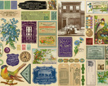 Flea Market Fresh - Labels Parchment Tan by Cathe Holden from Moda Fabrics