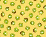 Fresh Fruits OXFORD - Kiwi Yellow from Cosmo Fabric
