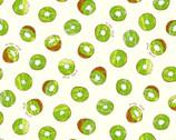 Fresh Fruits OXFORD - Kiwi Cream from Cosmo Fabric