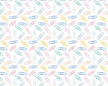 Teachers Rule - Paperclips Pastels from Camelot Fabrics