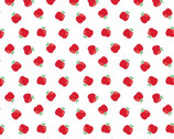 Teachers Rule - An Apple A Day White from Camelot Fabrics
