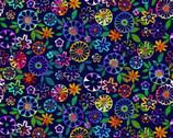 Geofetti - Confetti Flowers Royal Multi by Art Loft from Studio E Fabrics