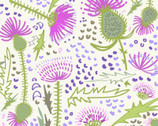 Thistle Patch - Garden Light Cream by Teresa Magnuson from Clothworks Fabric