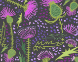 Thistle Patch - Garden Dark Brown Gray by Teresa Magnuson from Clothworks Fabric