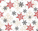 Gnomies FLANNEL - Snowflakes by Shelly Comiskey from Henry Glass Fabric