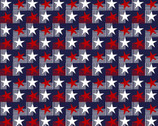Your Vote Counts - Stars and Stripes Navy Blue from Benartex Fabrics