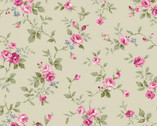 Ruru Bouquet Classic Library 2 - Rose Vine Toss from Quilt Gate Fabric