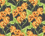 Spellcaster's Garden - Jack O' Lantern Vine Black from Maywood Studio Fabric
